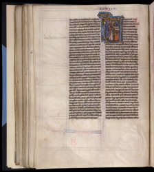 Historiated Initial With , In 'The Bible Of Robert De Bello'